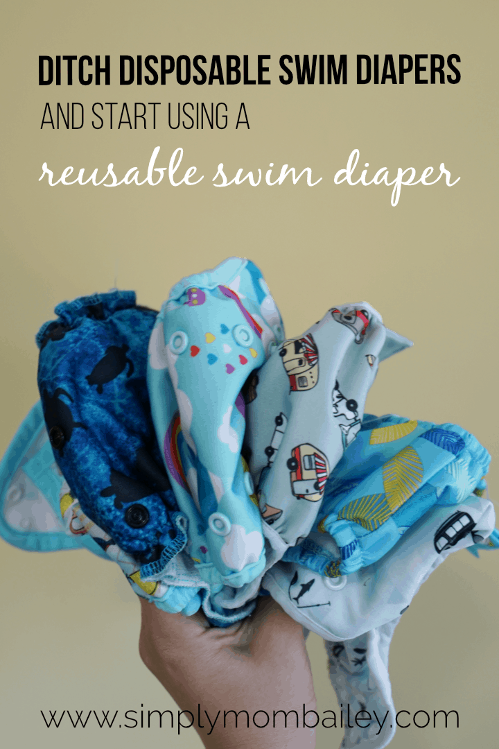 Ditch Disposable Swim Diapers for Cloth Swim Diapers #ecofriendly #swimdiaper #poolwithkids #babyatthebeach