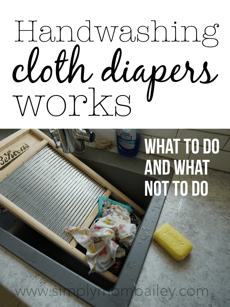 Handwashing Cloth Diapers Works #handwashing #laundrytips #cleaning #flatschallenge #ecofriendly #budget #frugaltips #clothdiapers