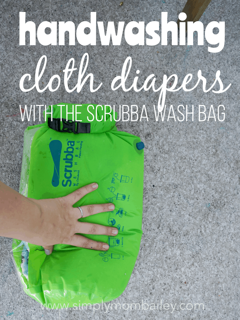 Handwashing Cloth Diapers with Scrubba