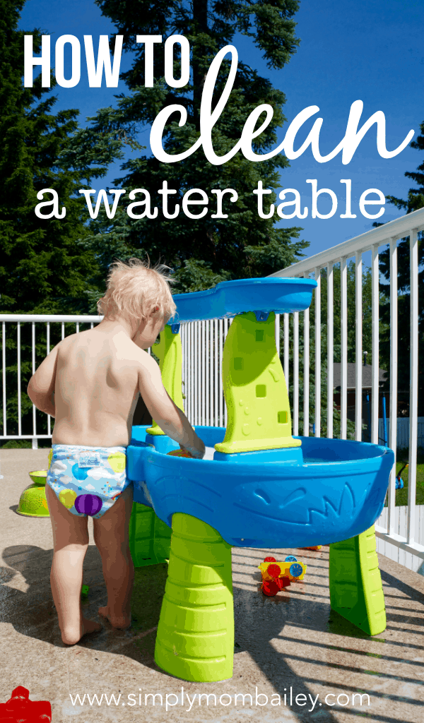 How to Clean A Water Table #kidstoys #outslideplay #cleaningtips
