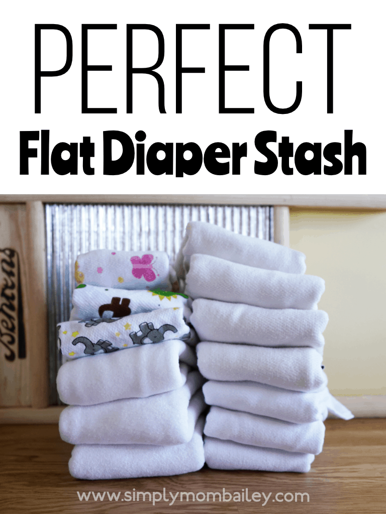 Perfect Store Bought Flat Cloth Diaper Stash #ecofriendly #flatschallenge #flatdiaper #clothdiapers