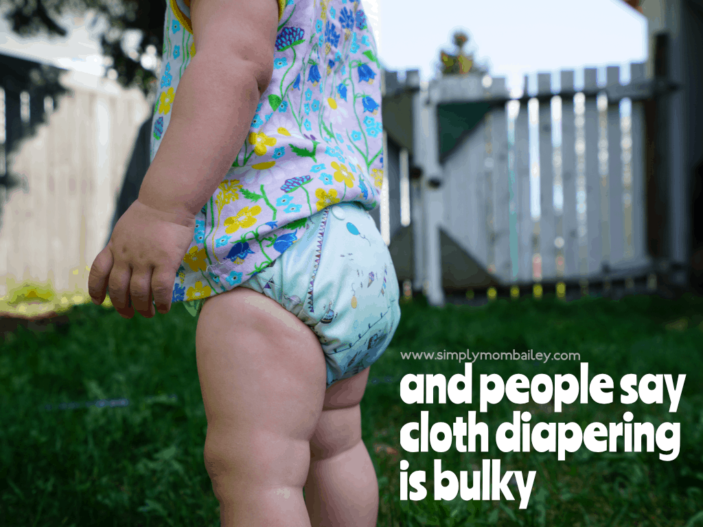 cloth diapers are bulky - not with flat diapers