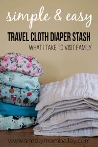 My Travel Cloth Diaper Stash – When I travel somewhere with a Washing Machine.