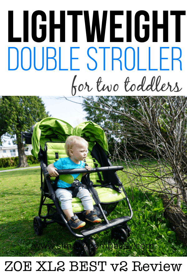 Lightweight Double Stroller for Two Toddlers #travelstroller #stroller #doublestroller #twins #zoestroller #affordable #budget #familylife