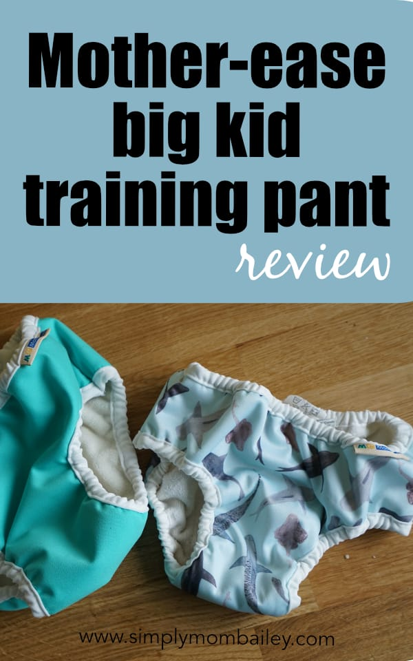 Mother-ease Training Pant Review - Potty Training for big kids when you need a little something more