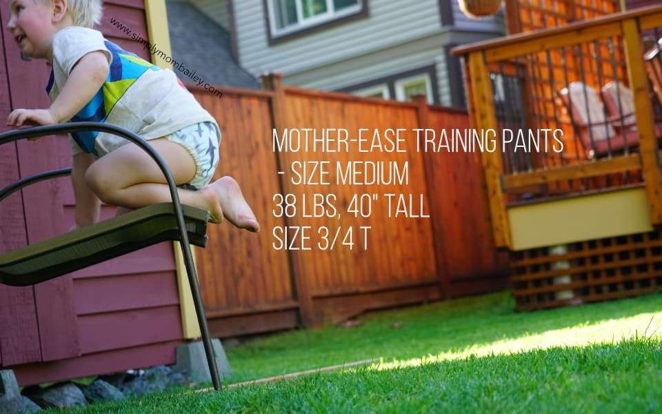 Mother-ease Training Pants on Big Kid