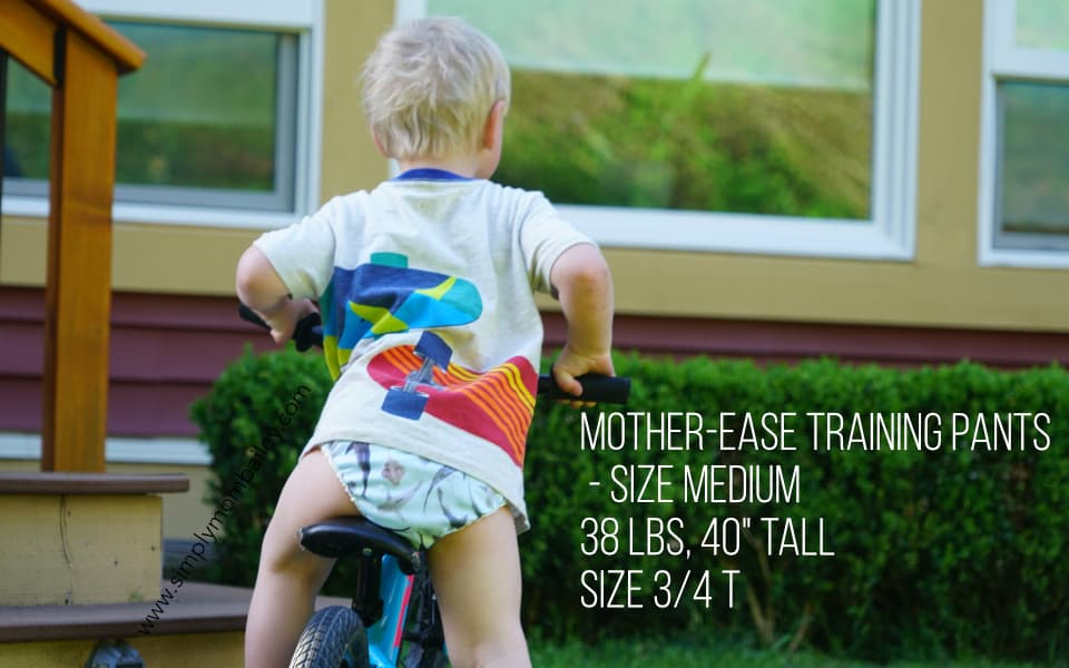 Mother-ease Training Pants on a Toddler