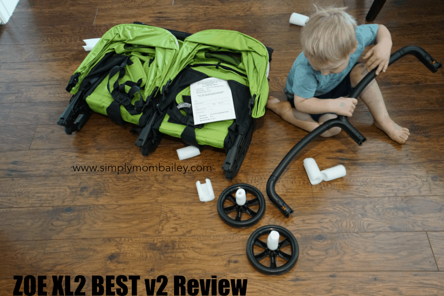 Putting together Zoe Double Stroller