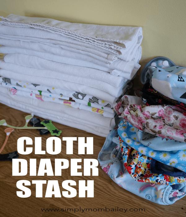 Example of a cloth diaper stash #clothdiaper #diaperstash