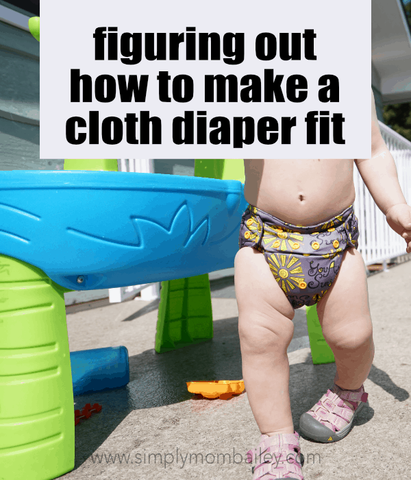 Figuring out how to make a cloth diaper to fit - nickis cloth diaper on a baby