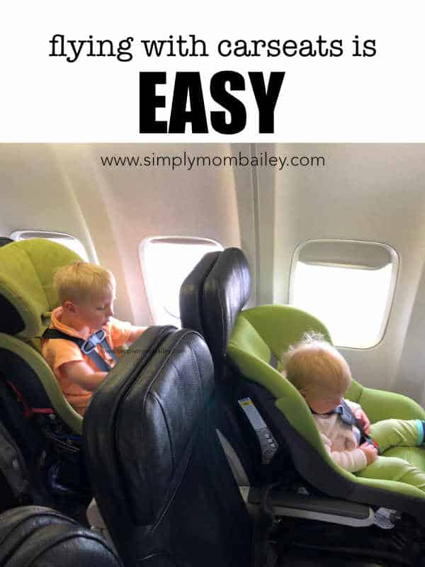 Flying with Car Seats is Easy. Tips on how to fly with two toddlers.