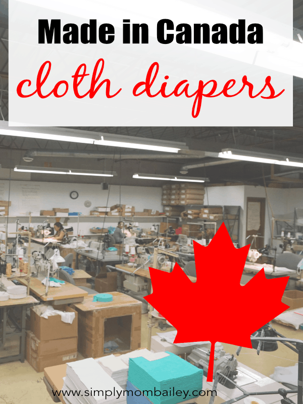 Made in Canada Cloth Diapers - Where to find Canadian manufactured cloth diapers #madeincanada #clothdiapers #shoplocal