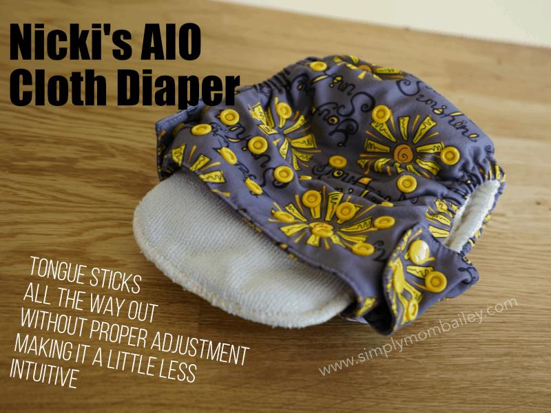Microfibre Insert in a Nickis' AIO Cloth diaper