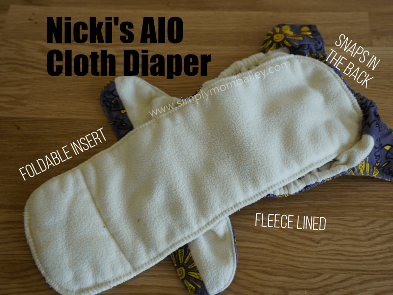 Nicki's Ultimate AIO Cloth Diaper Review - Insides
