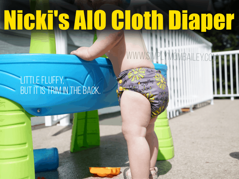 Side View of the Nickis' Ultimate AIO Cloth Diaper