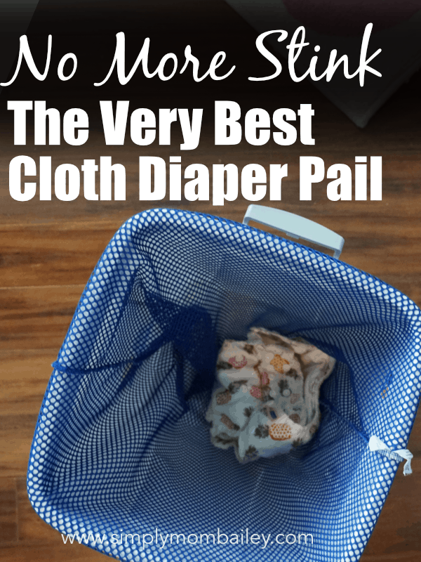 The Best Cloth Diaper Pail for Stinky Diapers #clothdiapers #dirtydiapers #diaperwashing #diaperlaundry