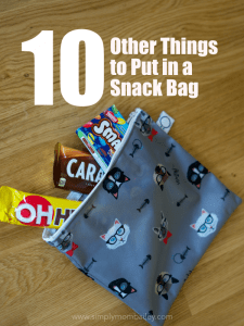10 Other Things to Put in a Snack Bag #ECOFRIENDLY #crunchymom #reusablebags #organisedmom #stayorganised #diaperbag