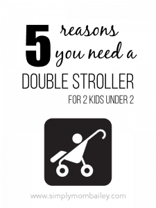 5 Reasons You Need A Double Stroller for 2 Kids Under 2. #2under2 #babygear #stroller #doublestroller