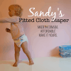 Affordable Fitted Cloth Diapers for Babies for Bed and beyond - Sandy's Fitted Diaper is even made in Canada.