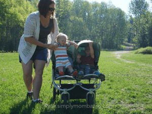 Double Stroller Bumbleride with 2 Under 2