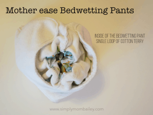 Inside of Mother ease Bedwetting pants