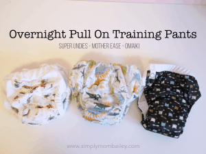 Overnight Pull On Training Pant Options for Reusables