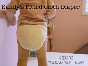 Sandy's Fitted Cloth Diaper is not trim