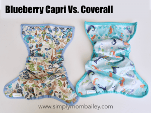 Blueberry Capri Versus Blueberry Coverall Comparison of Sizing