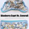 Blueberry Coverall versus Blueberry Capri sizing comparison