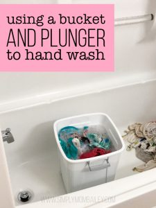Bucket & Plunger to Hand Wash Cloth Diapers even in a Hotel Room