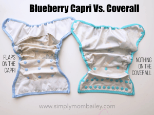Differences between the Blueberry Capri and Coverall Cloth Diaper Review