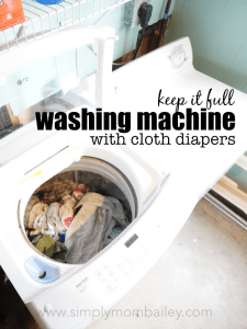 Full Washing Machine with Cloth Diapers for Laundry Day