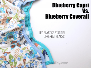 Leg Elastics on Blueberry Capri versus the Blueberry Coverall Cloth Diaper Review