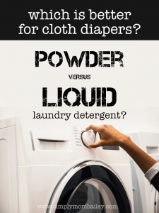 Looking for the best cloth diaper laundry detergent? Is powdered really better for hard water? #clothdiapers #laundry #detergent