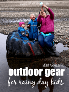 Mom Approved Outdoor Gear for Rainy Day Kids - Unsponsored recommendation for kids gear to keep them warm.
