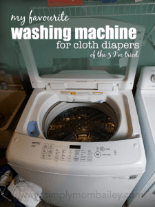 My favourite washing machine for washing cloth diapers