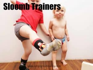 Sloomb Trainers on a Toddler