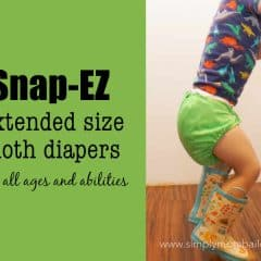 Sometimes Cloth Diapers are TOO BIG for your Preschooler – A Review of Snap-Ez Cloth Diapers