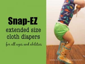 Snap EZ Extended Size Cloth Diapers