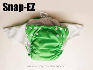 Snap Ez Pocket Cloth Diaper Folded in Half