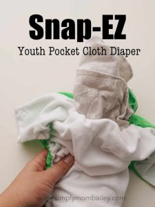 Stuffing a Snap EZ Pocket Cloth Diaper with a Receiving Blanket