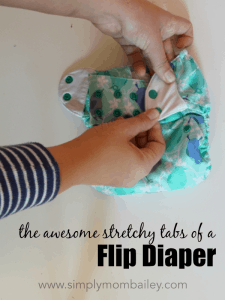 The Awesome Stretchy Tabs of a Flip Diaper Cover - Cloth Diaper Covers that are easy to use
