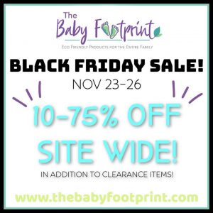 Baby Footprint Canadian Black Friday Sale