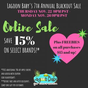 Lagoon Baby Black Friday Canadian Cloth Diaper Sales