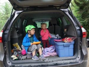 Did I mention camping in the Toyota Sienna?
