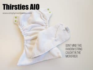 Insides of the Thirsties AIO - Microfiber AIO Cloth Diaper