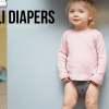 Lili Diapers on a baby - high end pocket cloth diapers on baby