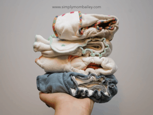 Pile of Fitted Cloth Diapers