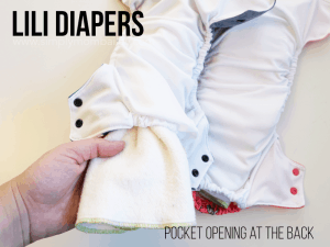 Pocket Cloth Diaper with Atheltic Wicking Jersey and back oepning