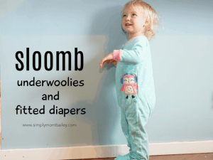 Sloomb Fitted Diaper for bullet proof overnight cloth diaper solution with fleece pjs